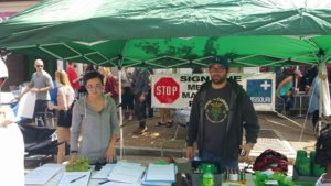 NORML booth collecting signatures for New Approach Missouri