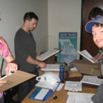 Signature workers were well organized at the New Approach Missouri Kickoff event.